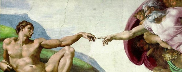 "Michelangelo's Sistine Chapel fresco: ""The Creation of Man"""