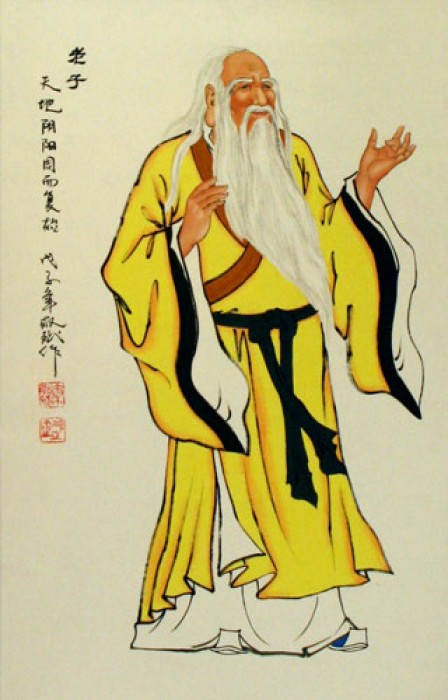 Scroll painting of Lao Tzu.