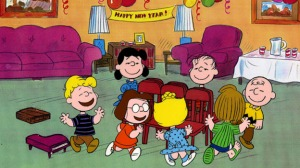"""Happy New Year"" from the Peanuts Gang"