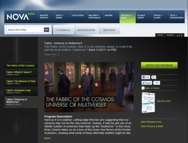 """The Fabric of the Cosmos"" by NOVA on PBS"