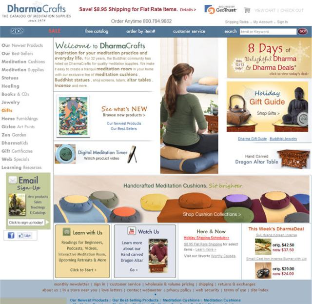 DharmaCrafts Home Page Image