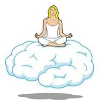 Meditator on Cloud (Illustration by Jason Lee)