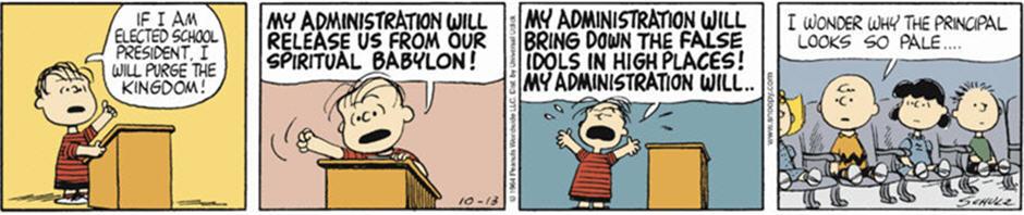 "Linus' ""Fire and Brimstone"" Speech - Peanuts Comic Strip"