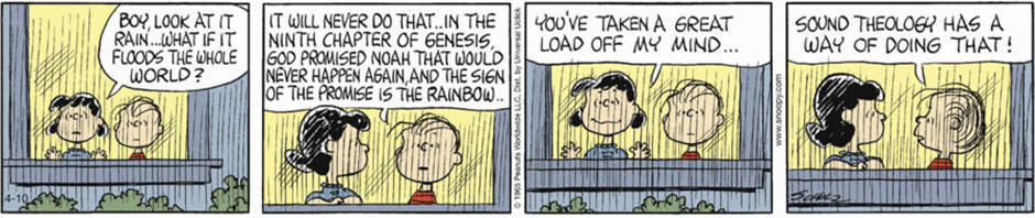 Linus on Sound Theology (Peanuts Comic Strip)