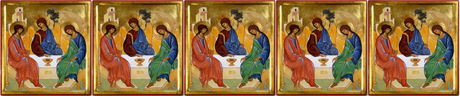 "Panel image of ""Trinity Icon"" by Rublev"