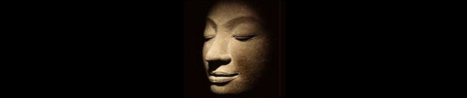 Photograph of face relief showing the Buddha's Face in the Bliss of Meditation