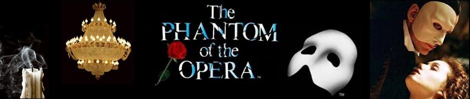 """Banner for """"The Phantom of the Opera"""" by Andrew Lloyd Webber"""