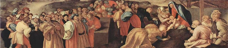 """Adoration of the Magi"" by Jacopo Pontormo"