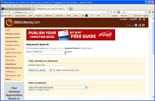 BibleGateway.com Web Ste