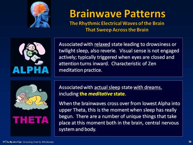 Diagram comparing Alpha and Theta States of the Brain