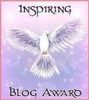 "Graphic image of ""Inspiring Blog Award""."