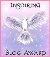 """Graphic image of """"Inspiring Blog Award""""."""