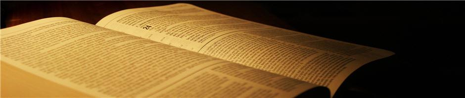 Image of open Bible.