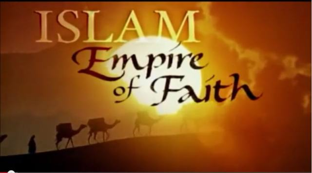 "Graphic for the PBS documentary ""Islam - Empire of Faith""."