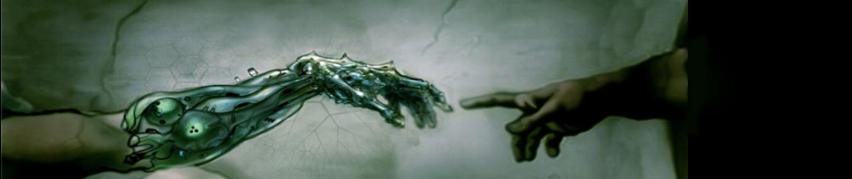 Transhuman Michelangelo graphic image.