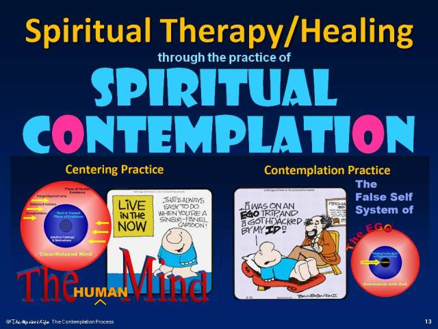 Graphic for Healing thru Spiritual Contemplation