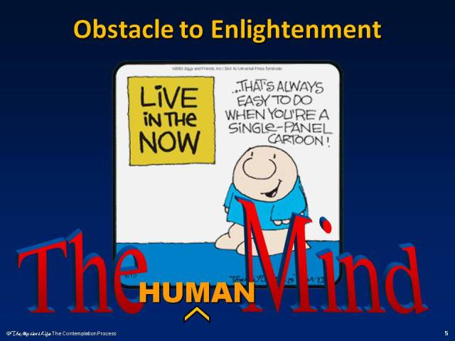 The human mind as an obstacle to enlightenment.