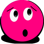 Surprised Pink Smiley (lookingrightt)