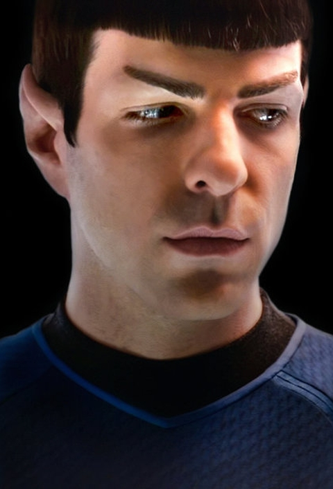 Photograph of Zachary Quinto, the New Mr. Spock