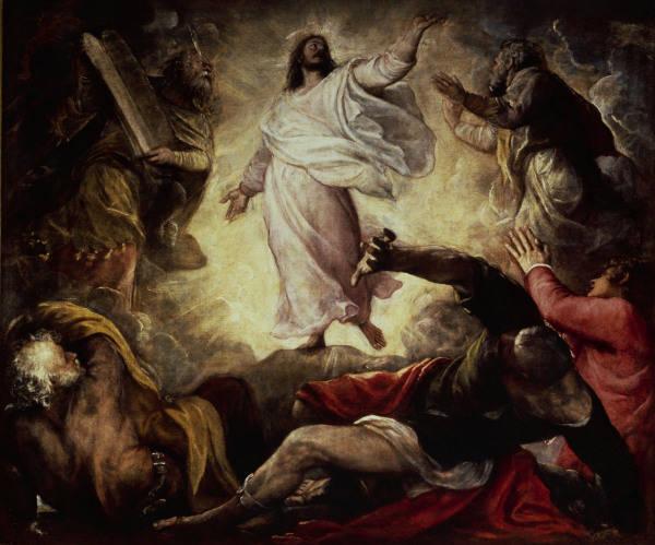 Image du Transfiguration du Christ, pour Titien c.1560, Venise, Église San Salvador