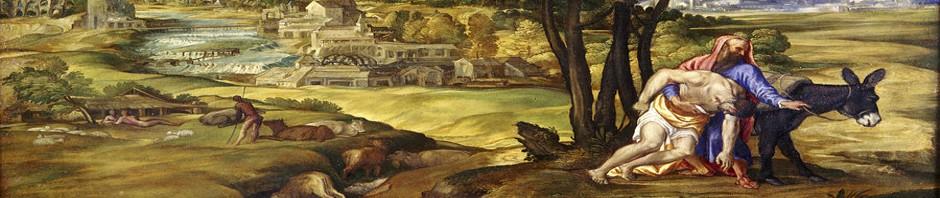 Good Samaritan Painting by Domenico Campagnola
