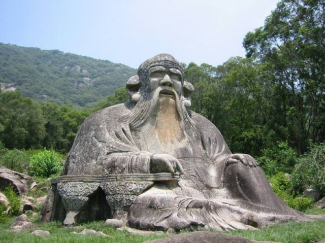 Photograph of Lao Tzu Statue in Quanzhou, China