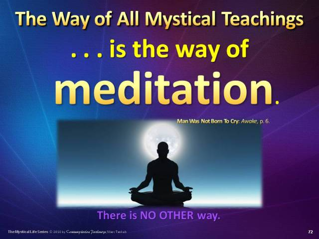 "Slide for ""Meditation - The Only Way"""