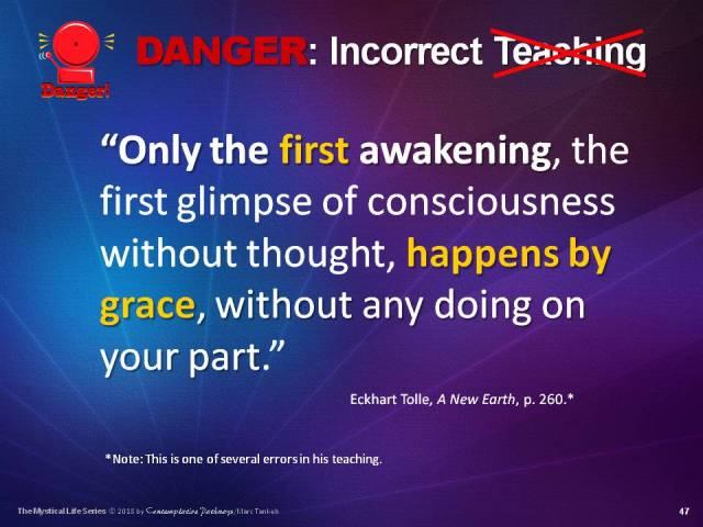Sllide of Tolle's Erroneous Teaching